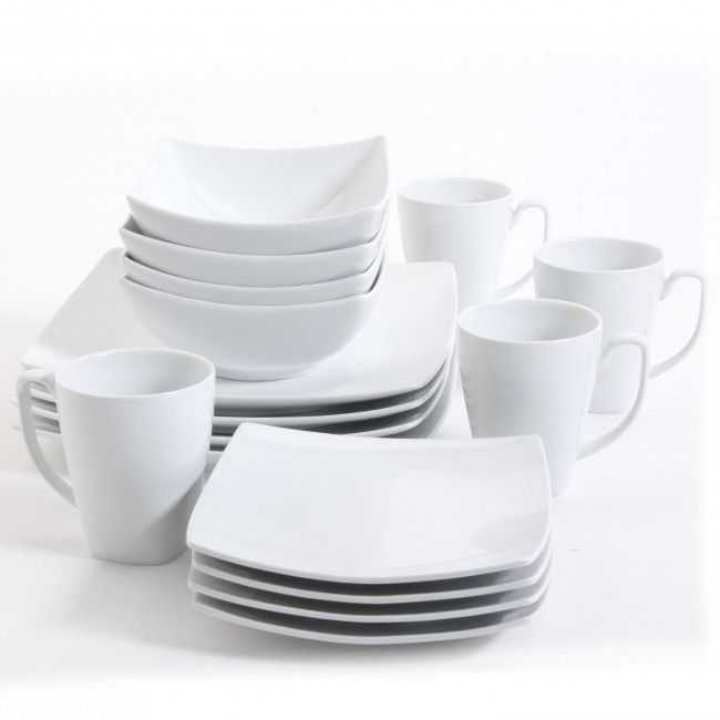 Monarch White Square Dinnerware Set Dinnerware Sets Kitchenware Dining Ware That Will Suit And Match Square Dinnerware Set Kitchen Ware Sets Dinnerware Set