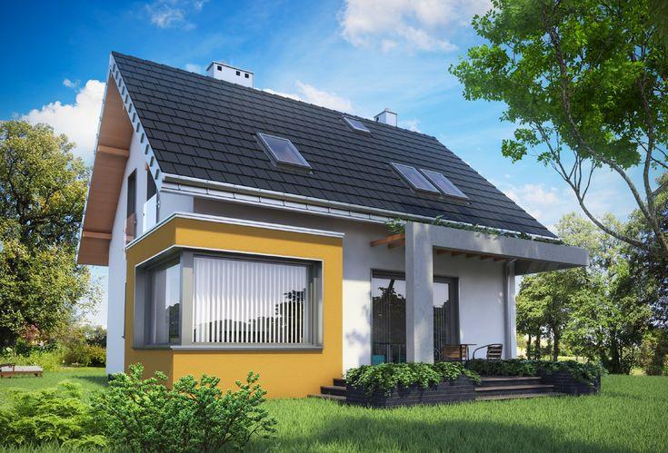 Projekt domu Liza Karo łączy prostotę i racjonalizm z przyciągającą uwagę dbałością o detal architektoniczny. Energooszczędną bryłę niewielkiej Lizy przykrywa ekonomiczny dwuspadowy dach.