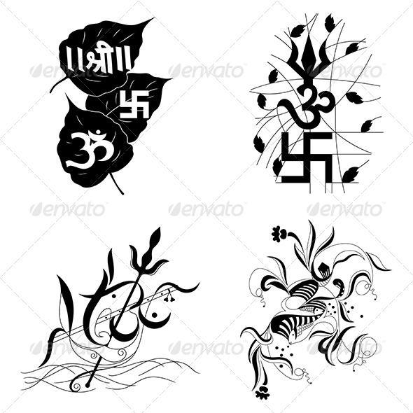 hindu religious sign aum or om