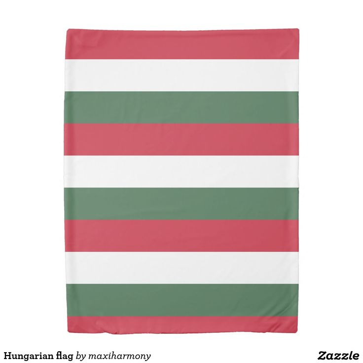 Hungarian flag duvet cover