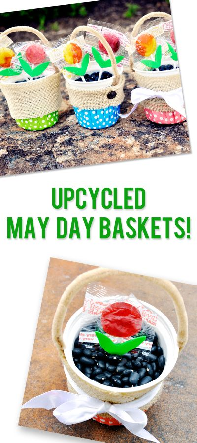 Upcycled Craft: May Day Baskets | howdoesshe.com