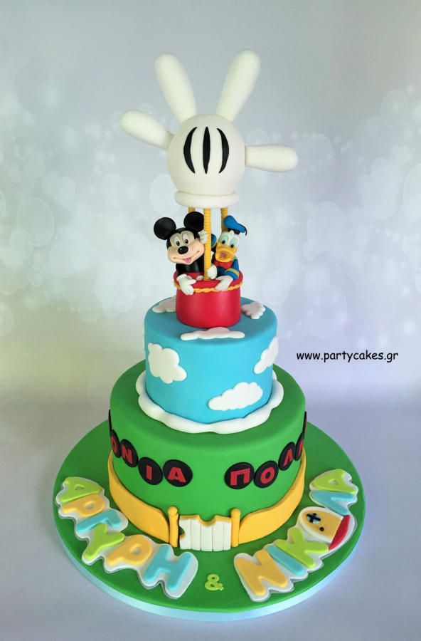 Mickey Mouse & Donald Duck Clubhouse Cake by Samantha Potter