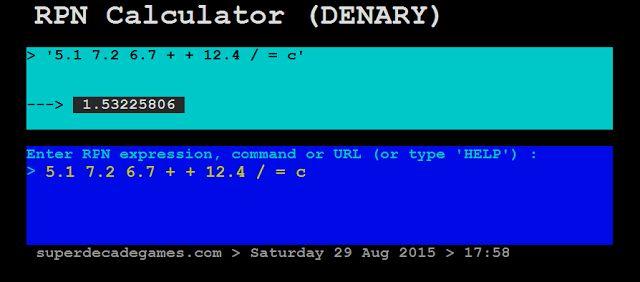 Superdecade Games Reverse Polish Notation Calculator