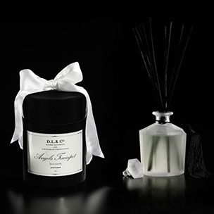 D.L. & Co Angel's Trumpet Diffuser -  Packaged in D.L & Co's signature black silk hat box with satin ribbon.