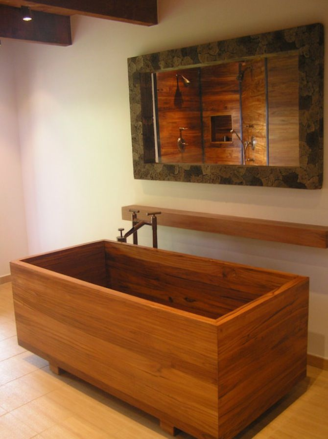 Get Inspired With These Amazing Wooden Bathtub Showers