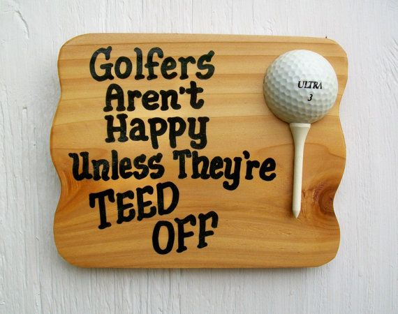 Sign for Golfers Funny Golf Plaque Golfers Aren't by trulytexas, $7.50