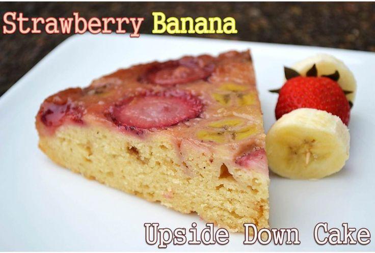 Banana Coconut Upside Down Cake Chobani