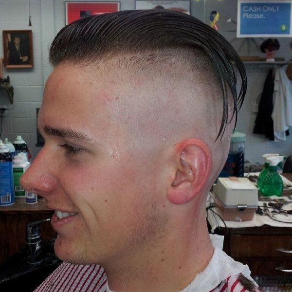 Undercut Shaved Slick Back