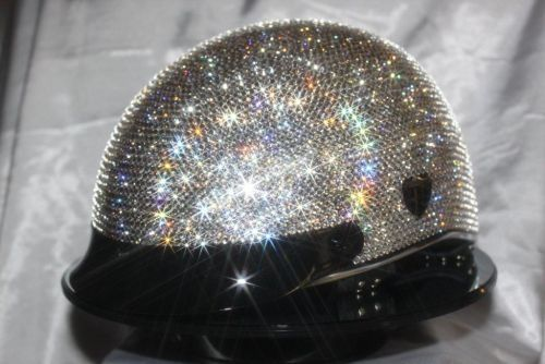 BLING MOTORCYCLE HELMETS. I kind of want to drive a motorcycle just to have a reason to wear this.