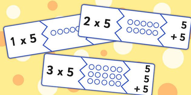 Number Names Worksheets five times table : Five Times Table Matching Puzzle Game - times table, matching ...