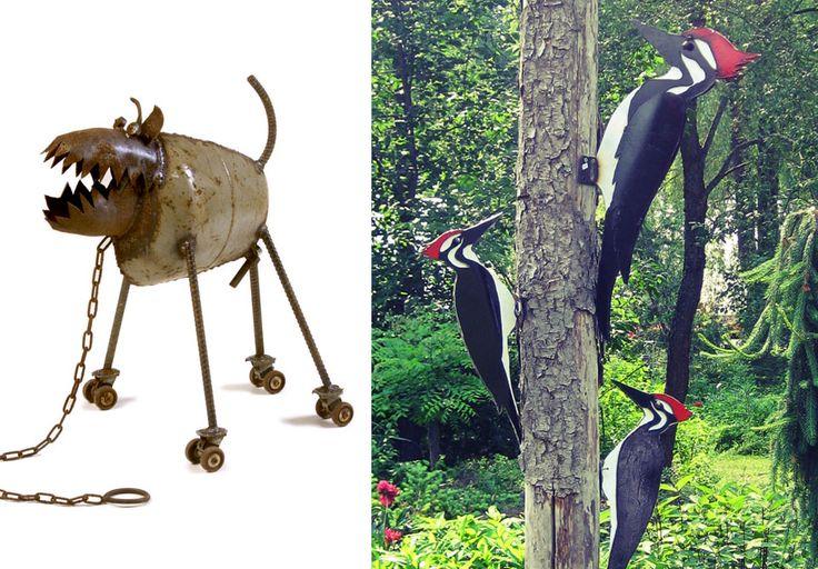 JP Schoss--metal sculptor. #uxbridgestudiotour