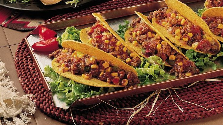 If you like Sloppy Joes and plenty of spice, you'll want to try Taco Joes. The spicy ground beef has the heat turned up with the addition of salsa. And it's served in taco shells, of course!