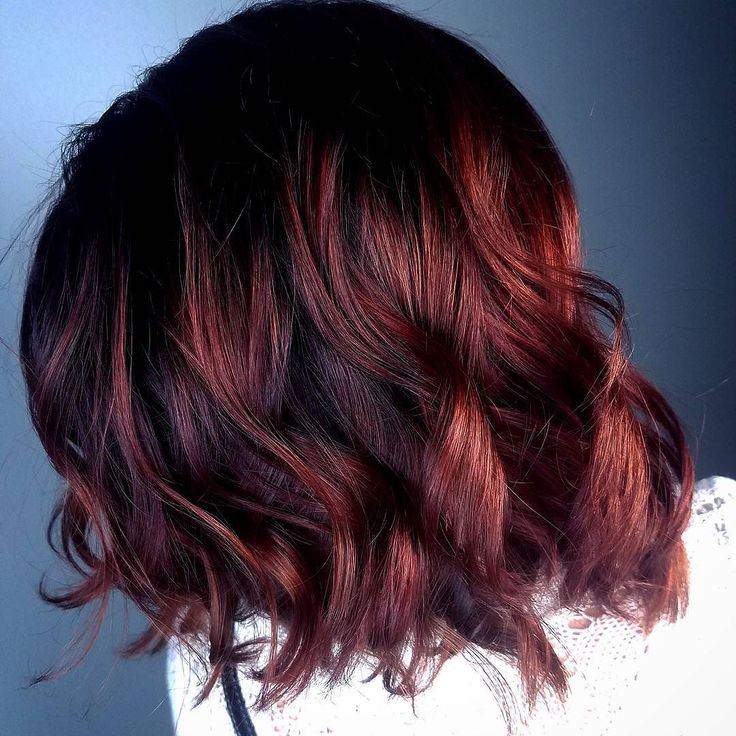 Fall is in full swing!! Love these fall hair colors!! Red/copper/violet deep warm tones for a perfect fall inspired balayage ombré! Color/cut by Ashton