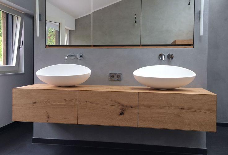 Waschtischunterschrank holz hängend  Waschtisch hängend - Schreinerei | Bad | Pinterest | Waschtisch ...