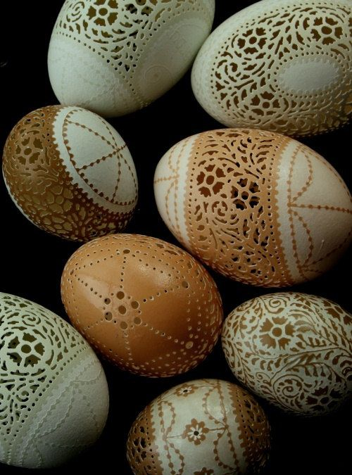 ~Carved and Etched Eggs~<3