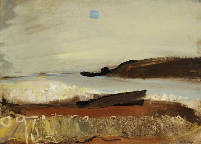 Your Paintings - Joan Kathleen Harding Eardley paintings salmon nets on the shore