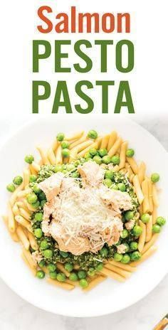 This Easy Salmon Pes This Easy Salmon Pesto Pasta is ready in...  This Easy Salmon Pes This Easy Salmon Pesto Pasta is ready in less than 10 minutes. Penne pasta topped with homemade basil and pine nut pesto peas Parmesan cheese and salmon. Healthy seafood pasta. [ad] Barilla US #ReadyPasta Recipe : http://ift.tt/1hGiZgA And @ItsNutella  http://ift.tt/2v8iUYW