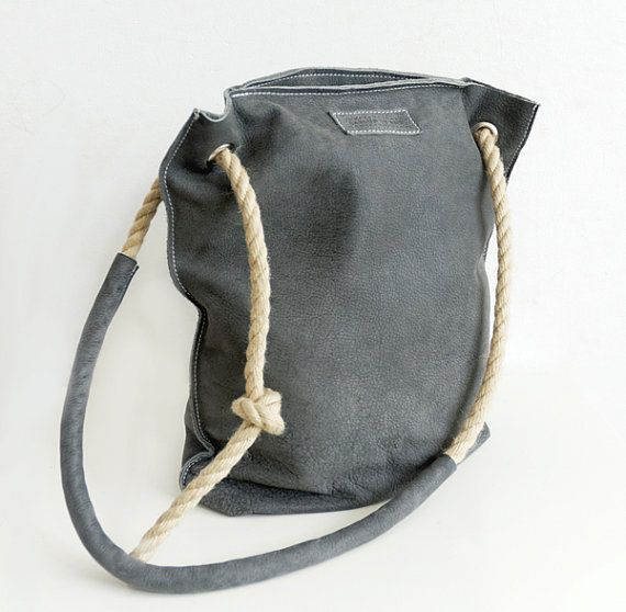 Soft Leather Hobo Bag - Carry All Shoulderbag - Slouchy Leather Tote
