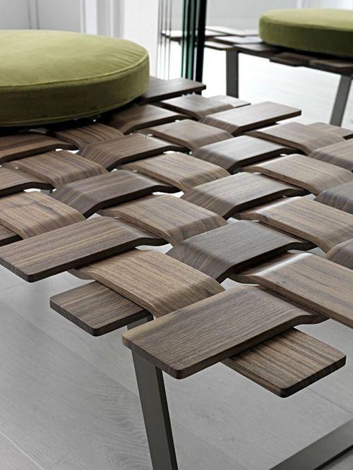 espritdesign:  Table Belt maillage de bois par...