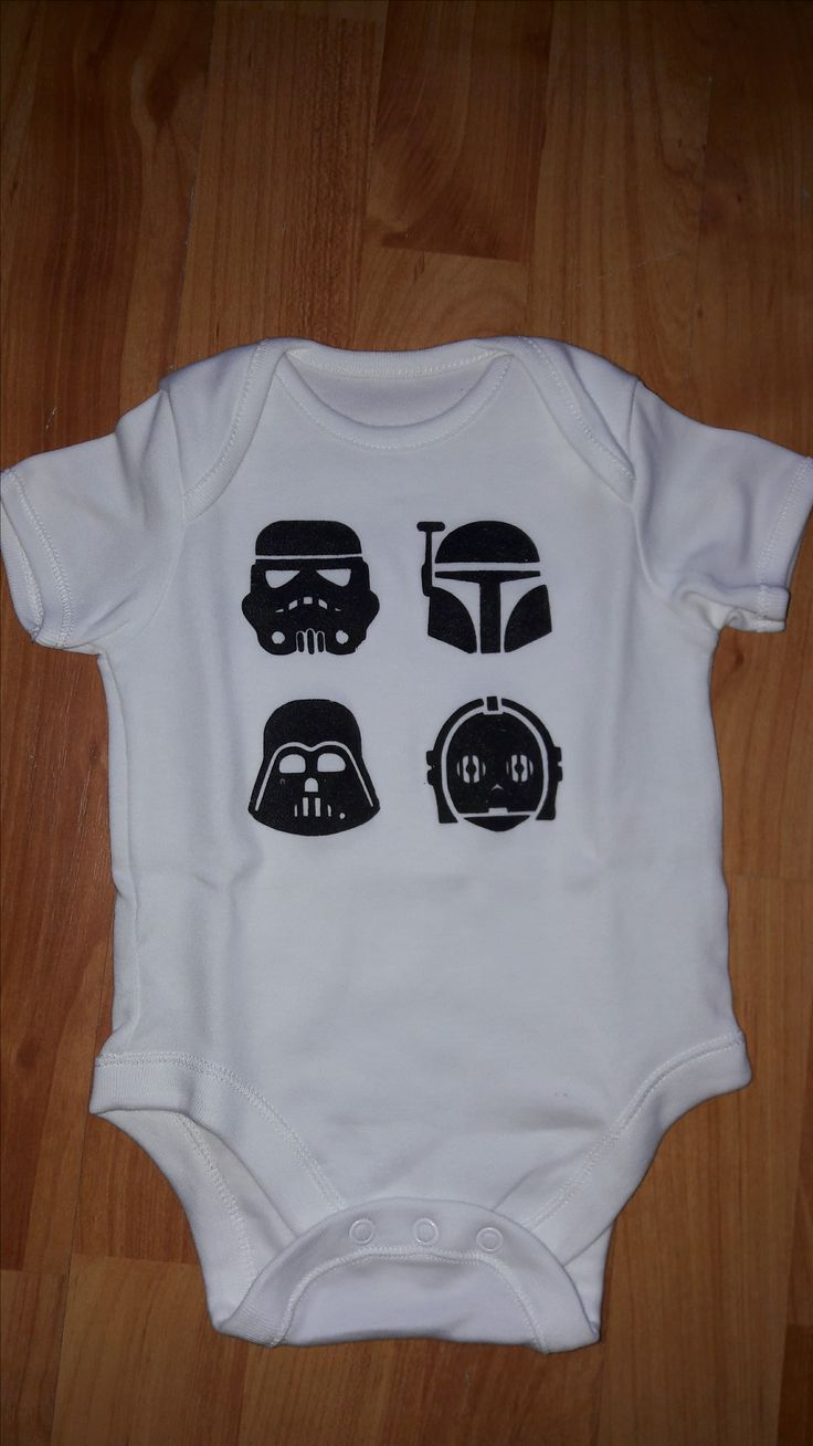 Baby suit for my best mate, daddy loves star wars