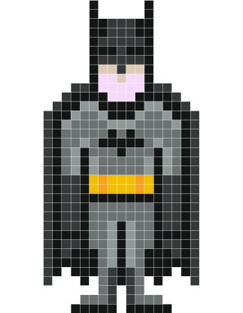 Batman  pixel art - Stickaz