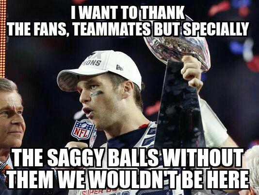 Tom brady and his saggy balls.  Go Philadelphia!