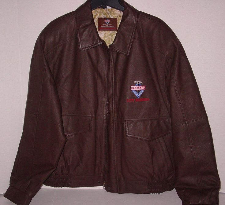 HANDYMAN CLUB OF AMERICA Men's 100%  Leather Jacket Coat Size XXL MAKE AN OFFER! #HandymanClubofAmerica #FlightBomber