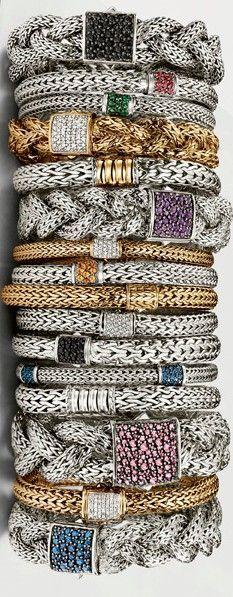John Hardy Bracelets - Stunning! #WomensFashion #ModernJewelry