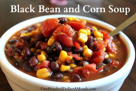 Easy Crock Pot Recipes  Black Bean and Corn Soup - was really good.  I doubled the recipe, added more cumin and chili powder, added garlic powder and cabbage, and used home-canned tomatoes.