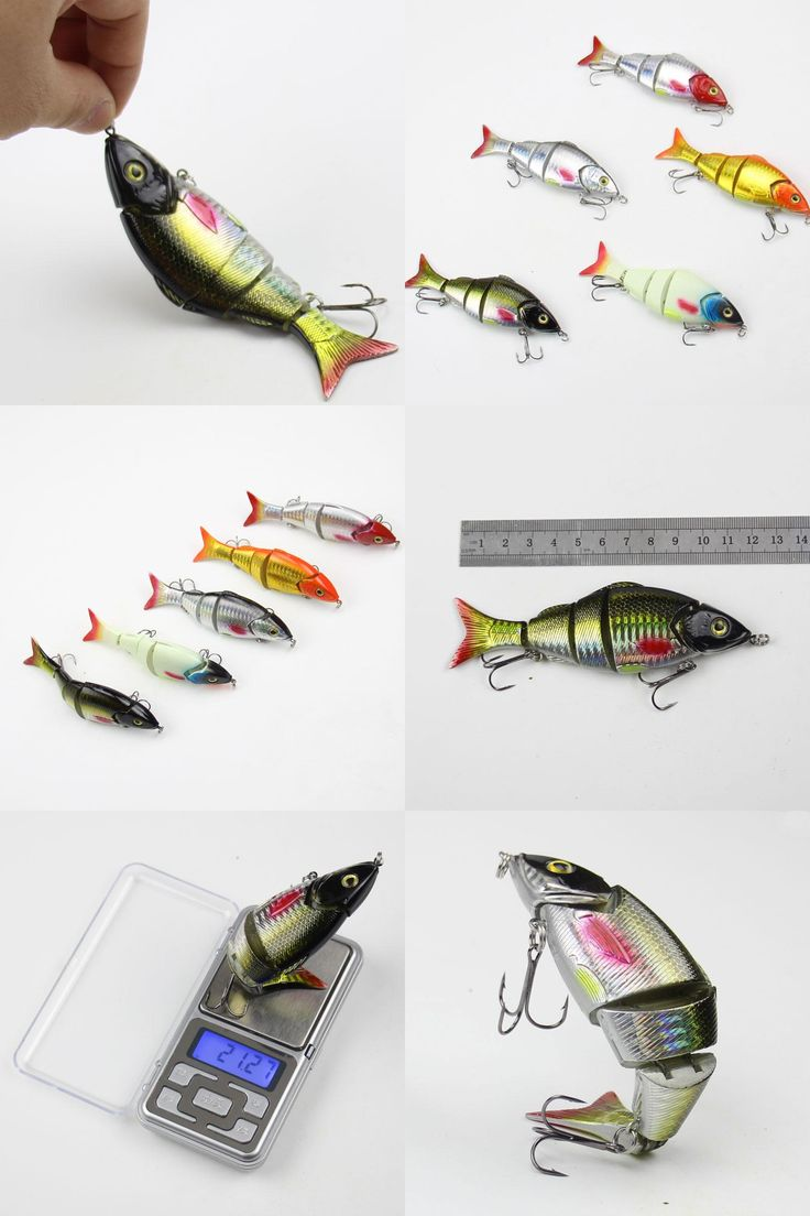 [Visit to Buy] Wobbler pesca Lento Lifelike Fishing Lure 5 Segmento Swimbait Crankbait Hard Bait 12cm 21g Isca Artificial Iscas de Pesca enfre #Advertisement