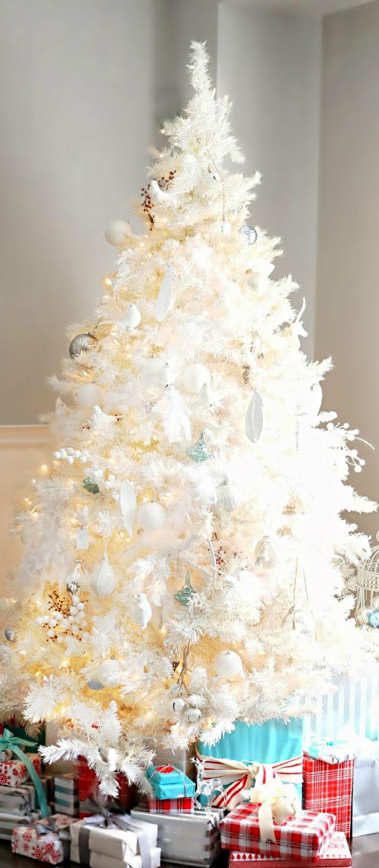 Christmas tree white christmas pinterest for White christmas tree pinterest