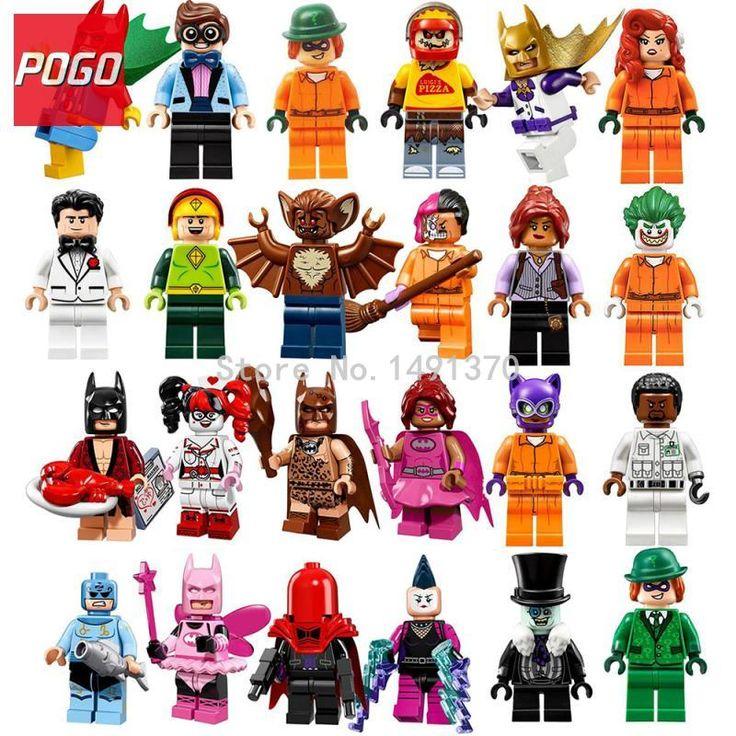 Pogo terbaru batman dc superhero gambar tunggal penjualan zodiak master mr freeze man bat blok bangunan set model mainan hobi