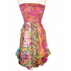 Women's Cotton Elastic Tube Top Sleeveless Bubble-hem Dress (Nepal)   Overstock.com Shopping - Great Deals on Women's Clothing
