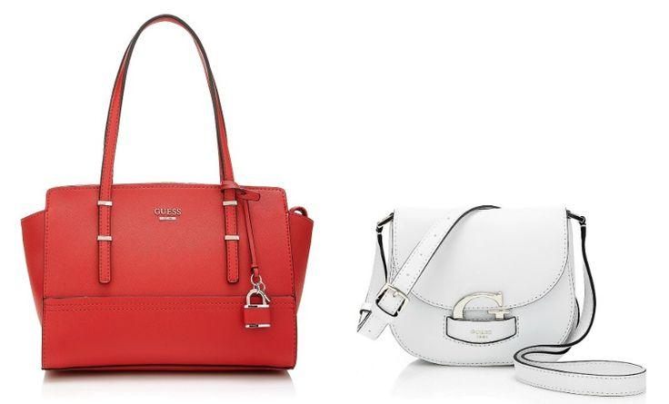 Amore a prima vista per la nuova collezione di borse Guess. Shopper, mini tracolle ed handbag dai nuovi colori e dalle nuove stampe vi conquisteranno!