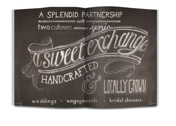 A Sweet Exchange by Natalie Krick, via Behance: Graphic Design, Natalie Krick, Chalkboard Writing, Chalk Drawing, Chalk Lettering, Chalkboards Divine, Graphic Desing, Chalk Design, Hand Lettering