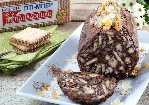 """Μωσαϊκό με 2 σοκολάτες και """"ΠΤΙ-ΜΠΕΡ"""" ΠΑΠΑΔΟΠΟΥΛΟΥ"""