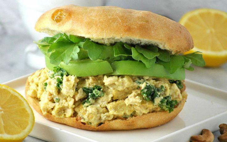 Curried 'Chicken' Salad Sandwich [Vegan] | One Green Planet