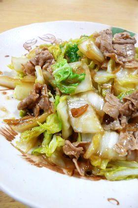白菜&豚肉のしょうが炒め