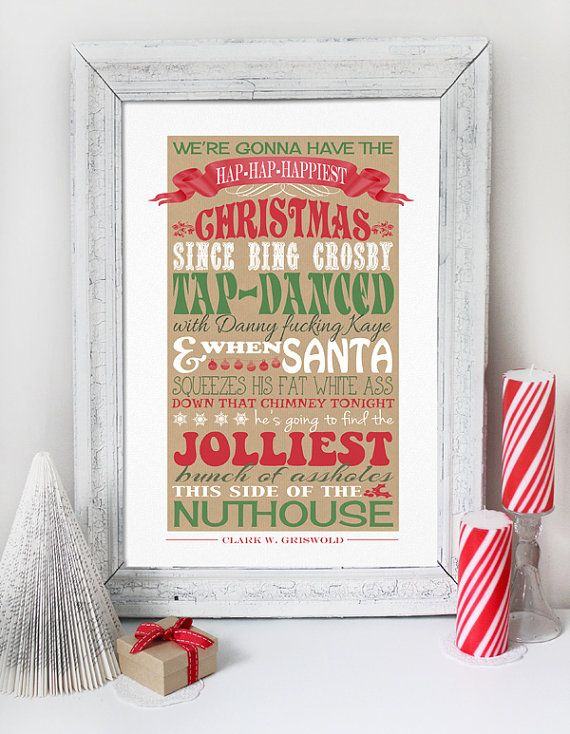 Christmas Vacation Quote - PRINTABLE FILE - Clark Griswold Quote - Red  Green Poster Print Decoration on Etsy, $8.50