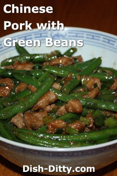 Chinese Pork with Green Beans Recipe by Dish Ditty Recipes - Nothing is easier on a weeknight than Chinese Stir fry, and with this Chinese Pork with Green Beans Recipe, you'll also have a delicious and healthy weeknight dinner.   - http://www.dish-ditty.com/recipe/chinese-pork-green-beans-recipe/