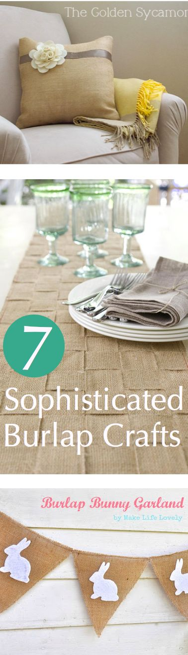 7 Sophisticated Burlap Crafts || CraftFoxes #sewing #homedecor
