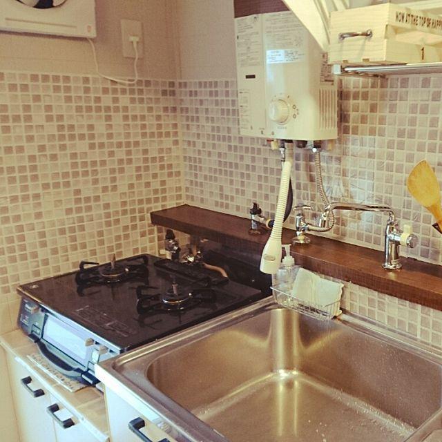 キッチン 団地 賃貸 賃貸でも楽しく 団地 Diy などのインテリア