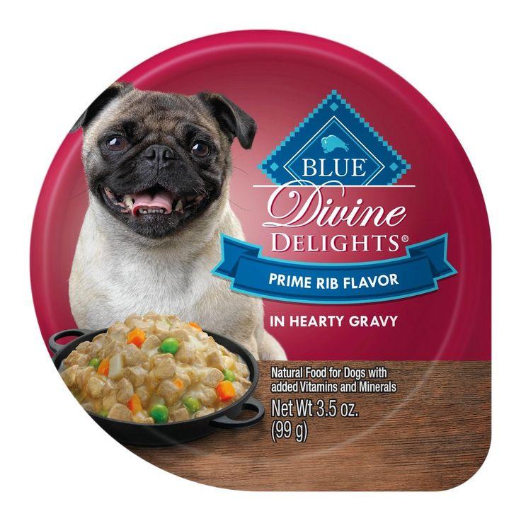 Blue Buffalo Divine Delights Prime Rib Cuts in Gravy - Wet Dog Food - 3.5oz