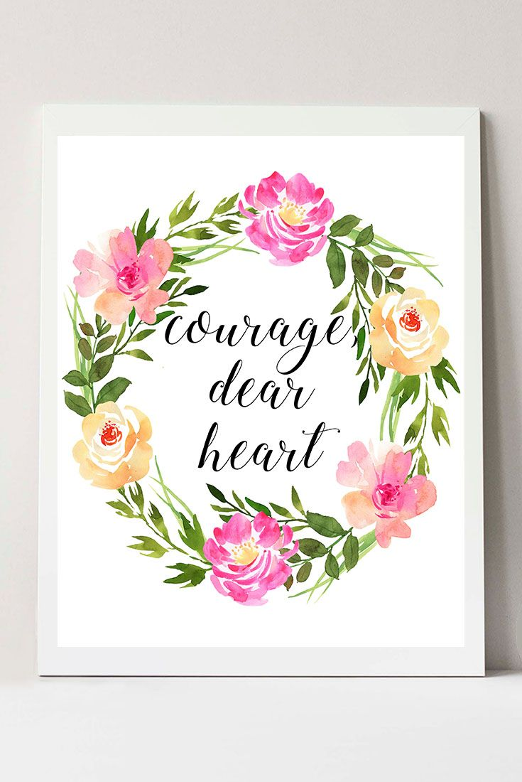 C S Lewis Quote Floral Wall Art Bedroom Wall Decor