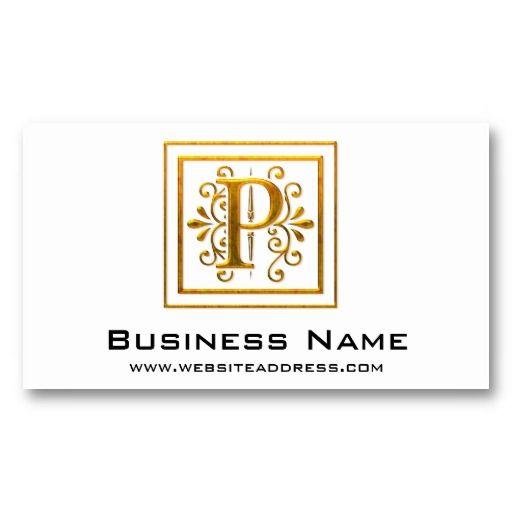 Best business cards monogram images on pinterest