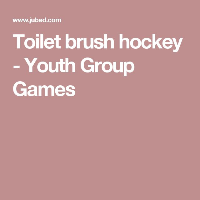 Toilet brush hockey - Youth Group Games