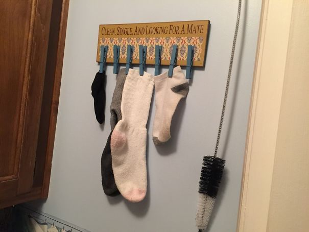 My Mom Has This Hanging Above The Dryer In Her Laundry Room