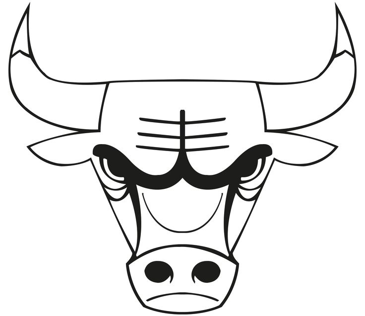 images of the chicago bulls logo | chicago bulls colouring pages (page 2)