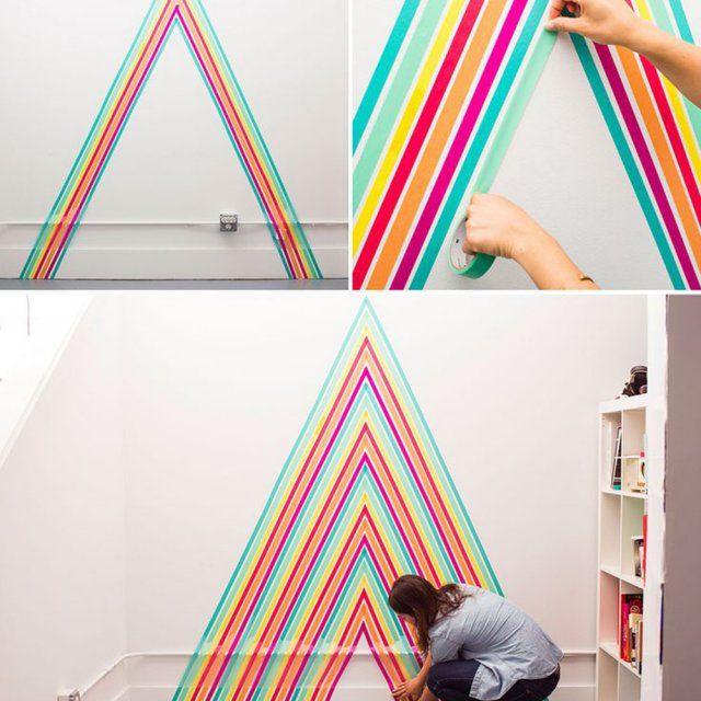 Décoration murale masking tape