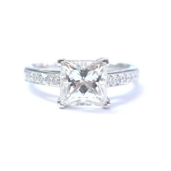 pre owned tiffany co platinum diamond grace engagement ring 25500 - Preowned Wedding Rings